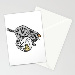 Kitten On Hamster Ball Stationery Cards