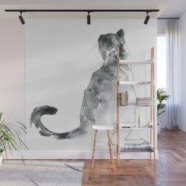 Cat at the Windowsill Wall Mural