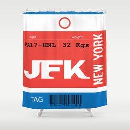 Bag Tag - JFK Shower Curtain