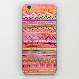 Hand painted Bright Patterned Stripes iPhone Skin