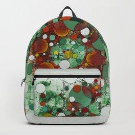 Dark Green Dot Backpack