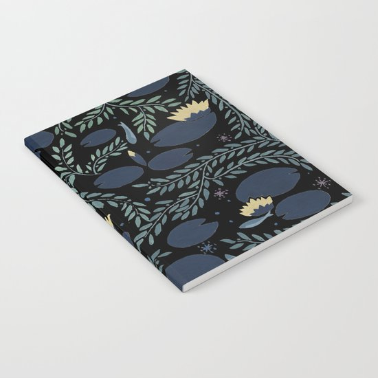 night waterlily Notebook