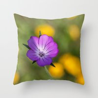 alone Throw Pillows featuring Alone by David Tinsley