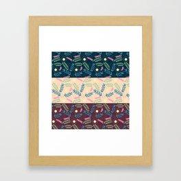 Floral Pattern- Namaste Monday Framed Art Print