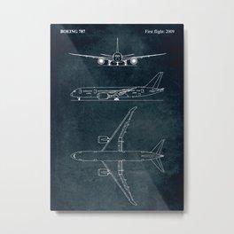 BOEING 787 - First flight 2009 Metal Print