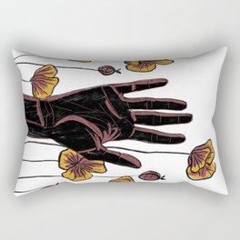 Let Go- Black Rectangular Pillow