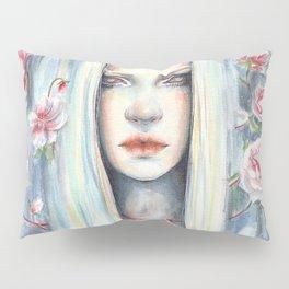 """Blossom"" Watercolour Surreal Fantasy Nymph Pillow Sham"