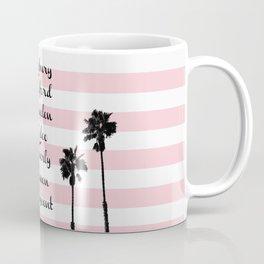 Beverly Hills Street Names Palm Trees Pink Stripes Coffee Mug