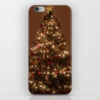 christmas tree iPhone & iPod Skins featuring Christmas tree. by Assiyam
