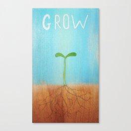 """""""Grow"""" Canvas Print"""
