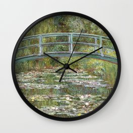 Bridge over a Pond of Water Lilies by Claude Monet Wall Clock