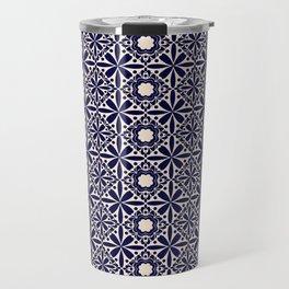 Pattern art curtain 2 Travel Mug