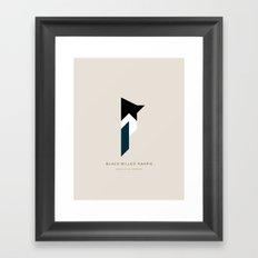 Black-Billed Magpie Framed Art Print