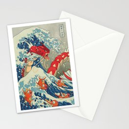 The Great Red Wave Stationery Cards