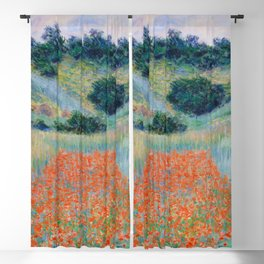 Poppy Field in a Hollow near Giverny Claude Monet Blackout Curtain