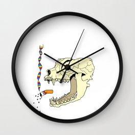 Cat Skull + CMYK DNA Wall Clock