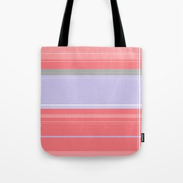 Pink and Purple Plaid Tote Bag