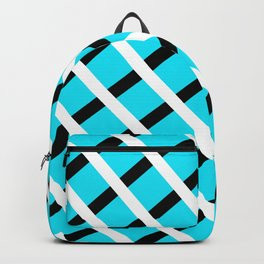Blue Background Stripes Backpack