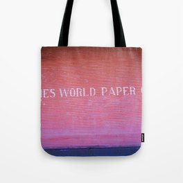 Times World Paper Tote Bag
