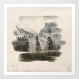 Distant Mountains Art Print