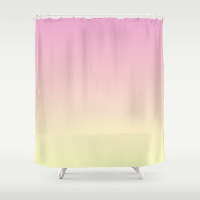 Colorful Gradient Pink Shower Curtain