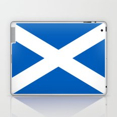 Flag of Scotland - High quality authentic version Laptop & iPad Skin