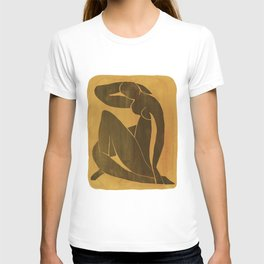 Henri Matisse mustard and black nude T-shirt
