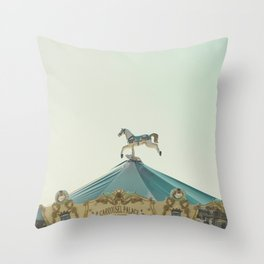 Carrousel Horse Throw Pillow