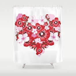 love flovers Shower Curtain