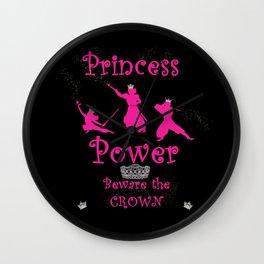 Princess Power Beware the Crown Ninja Princesses Wall Clock