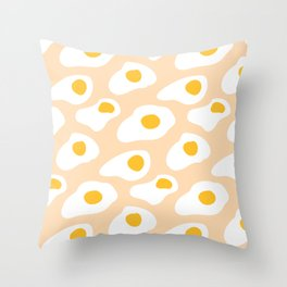 Eggs pattern on pink Throw Pillow