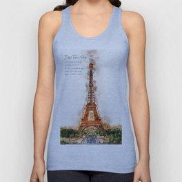 Eiffel Tower, Paris Unisex Tank Top