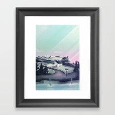 Alpine Island Framed Art Print