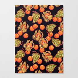 Physalis pattern Canvas Print
