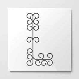"Letter ""L"" in beautiful design Fashion Modern Style Metal Print"