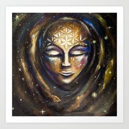 Cosmic Spiritual Birth Art Print