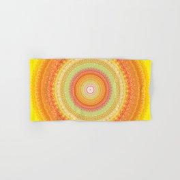 Bright Yellow Orange Mandala Hand & Bath Towel