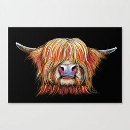 Scottish Highland Cow ' CHARMER ' by Shirley MacArthur Canvas Print