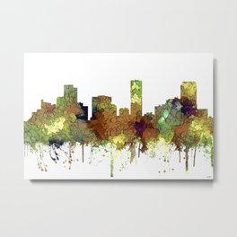 Denver, Colorado Skyline SG - Safari Buff Metal Print