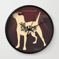 snatch Wall Clocks featuring The Snatch - Stealin' Stones & Breakin' Bones by Thecansone