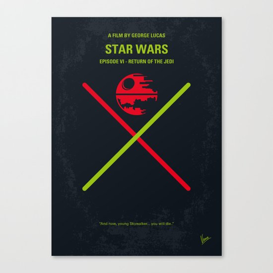 No156 My STAR Episode VI Return of the Jedi WARS minimal movie poster Canvas Print