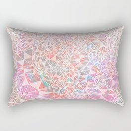 Geo batik pattern - pink Rectangular Pillow