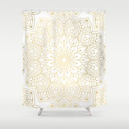 The Golden Mandala Illustration Pattern Shower Curtain