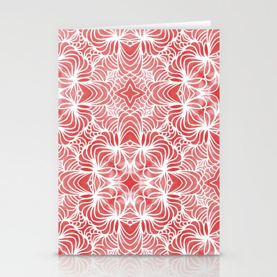 Coral Waves Stationery Cards