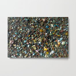 Pebbled beach  Metal Print