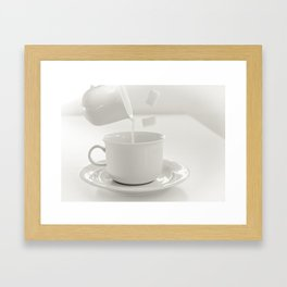 A cup of magic Framed Art Print