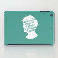 louis tomlinson iPad Cases featuring Louis Tomlinson Silhouette  by Holly Ent