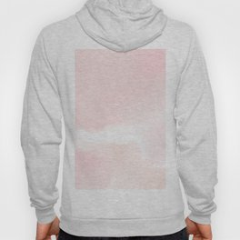Pastel pink white modern hand painted watercolor. Hoody
