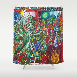 """Holiday Blessings"" Shower Curtain"