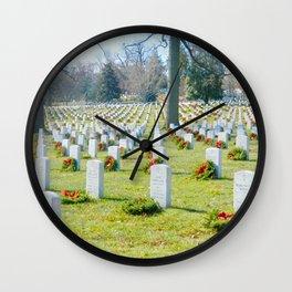 arlington national cemetery photography Wall Clock